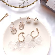 2019 Korean Cold Wind Acrylic Petals  Earrings Super Fairy Holiday Long Women Fashion Jewelry Accessories