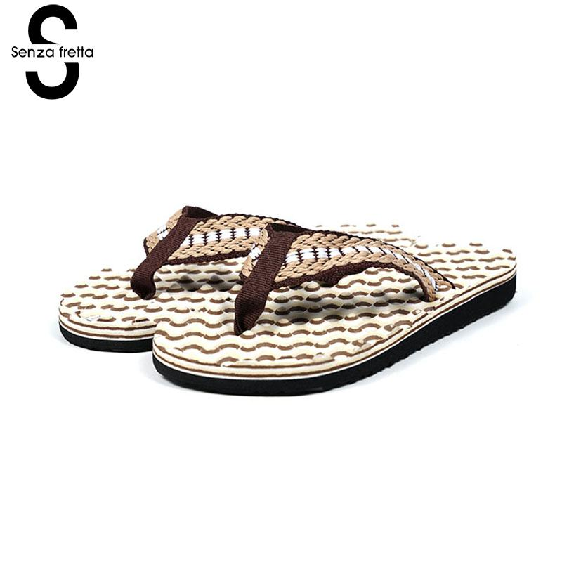 Senza Fretta Men Massage Flip Flops Beach Outdoor Flip Flops Casual Men Slippers Flip Flops Non-slip Casual Massage Men Shoes senza fretta men shoes flip flops beach sandals casual summer eva slippers shoes men casual non slip sandals flip flops shoes
