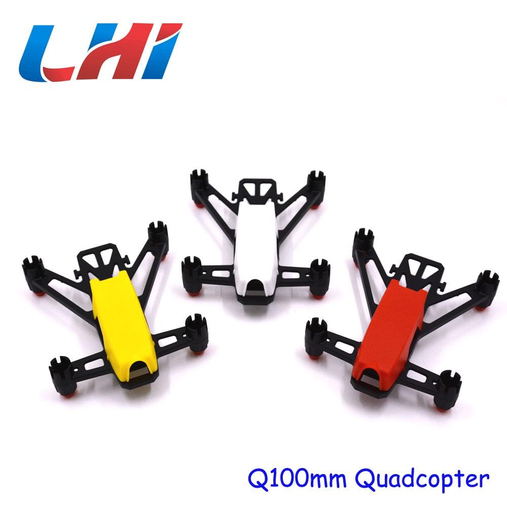 Q100 Super Mini FPV Racer Quadcopter DIY Indoor Kit Frame Only plastic 1set