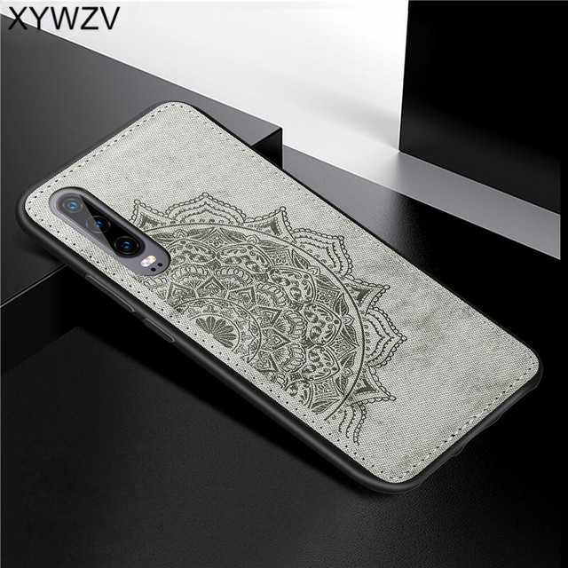 For Huawei P30 Case Shockproof Soft TPU Silicone Cloth Texture Hard PC Phone Case For Huawei P30 Back Cover Huawei P30 Fundas