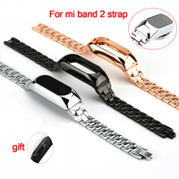 Metal Strap For Xiaomi Mi Band 2 Straps Screwless Stainless Steel Bracelet Smart Band Replace