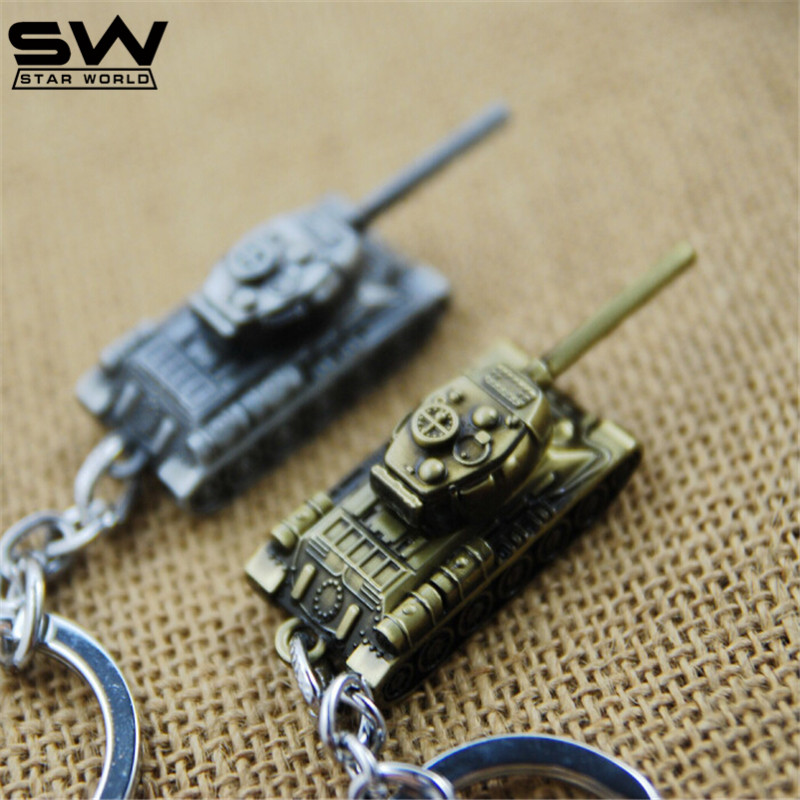 STARWORLD 3 Colors World of Tanks Key chain Metal Key Rings For Gift Simulated Tanks Keychain Jewelry Game Key Holder Souvenir