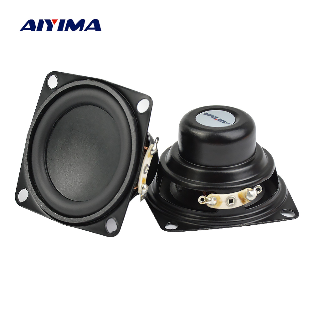 AIYIMA 2 stück 2 Zoll Audio Lautsprecher 53mm 4Ohm 10 watt Vollständige Palette Lautsprecher Bass Multimedia Lautsprecher Für Audio DIY