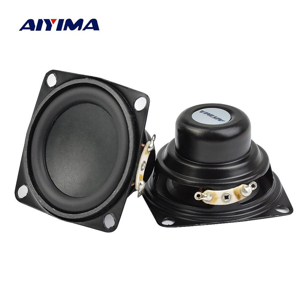 AIYIMA 2Pcs 2 Polegada 53MM 4Ohm 10W Gama Completa Falante de Áudio Alto-falantes Multimídia Baixo Altifalante Para Áudio DIY