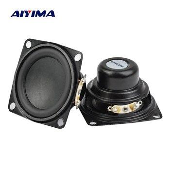 AIYIMA 2 sztuk 2 Cal głośnik Audio 53MM 4Ohm 10W pełnozakresowe głośniki Bass multimedialny głośnik dla Audio DIY