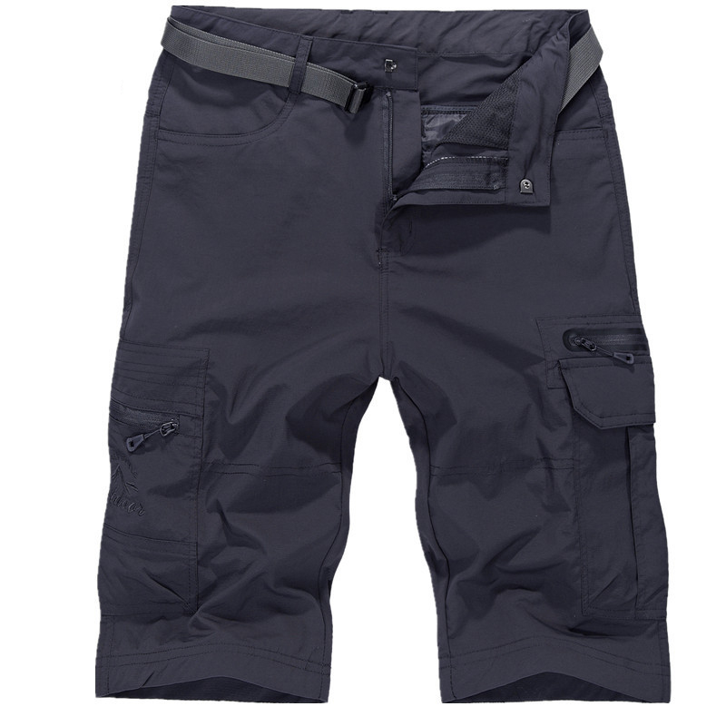 Exército Verde Tamanho Grande Soltas Shorts Men