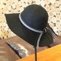 New Winter Ladies Wool Floppy Hats Women Wide Brim Felt Fedoras Female Chapeau Free Shipping WMDW-021
