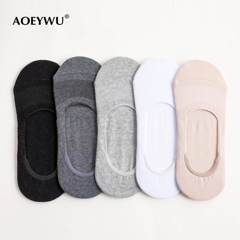 Adroit Men Summer High Quality Non-slip Invisible Mesh Boat Socks Mans Fashion Cotton Low Sock Slippers 5pairs/lot Underwear & Sleepwears