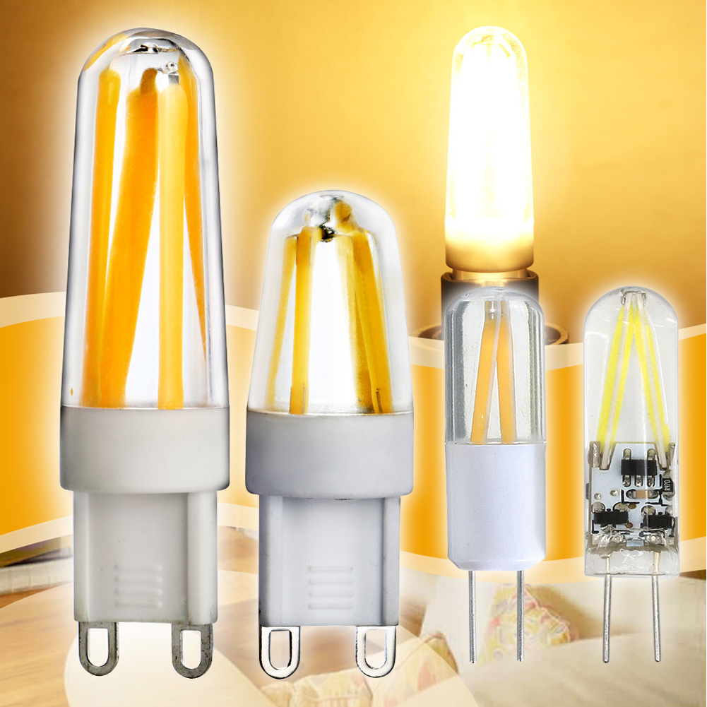 TSLEEN Free Shipping! 10PCS Mini G9 G4 LED Corn Light Bulb Spotlight For Chandelier 1.5W 2W 3W 5W Halogen Lamp AC 220V 12VDC