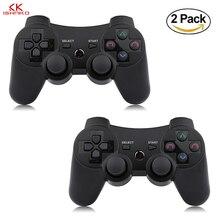 K Ishako 1PCS/2PCS Wireless Bluetooth Game Controller For p3 PS3 Controle Joystick Gamepad Joypad Remote