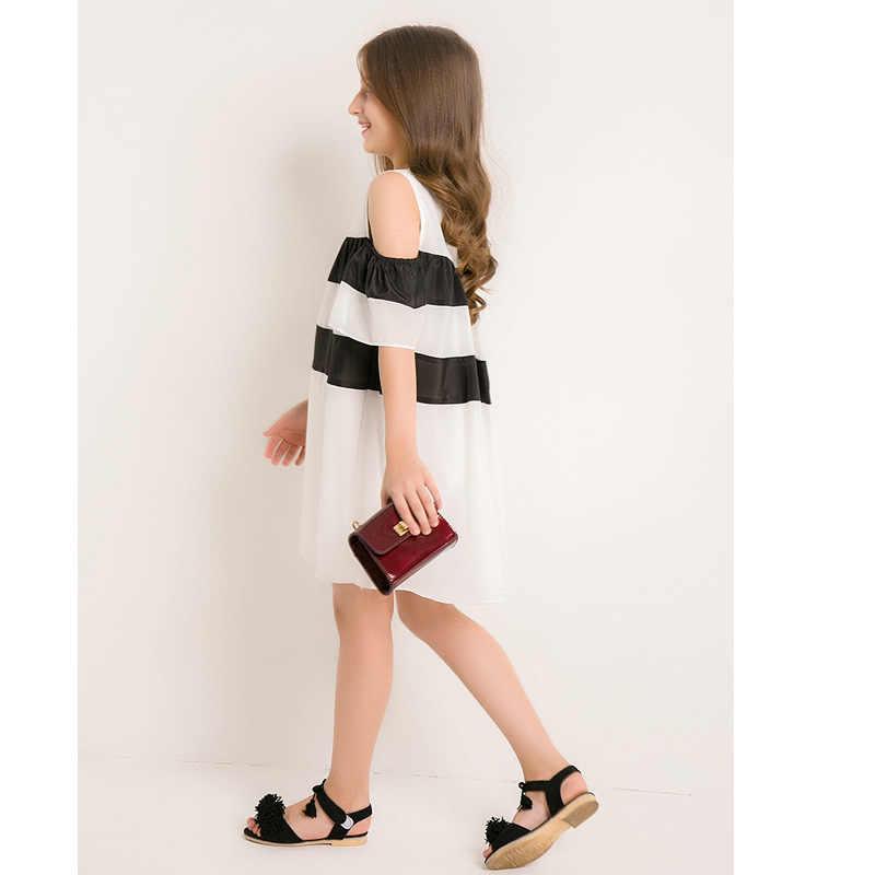 46b819af186 ... 6 to 14 Years Teen Girls Off Shoulder Dress 2018 New Arrival Short  Sleeve Summer Dress ...