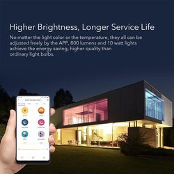 [Angielski wersja] Xiaomi yeelight inteligentne żarówki LED kolorowe 800 lumenów 10W E27 cytryny inteligentna lampa do mi App domu biały /RGB opcja 4