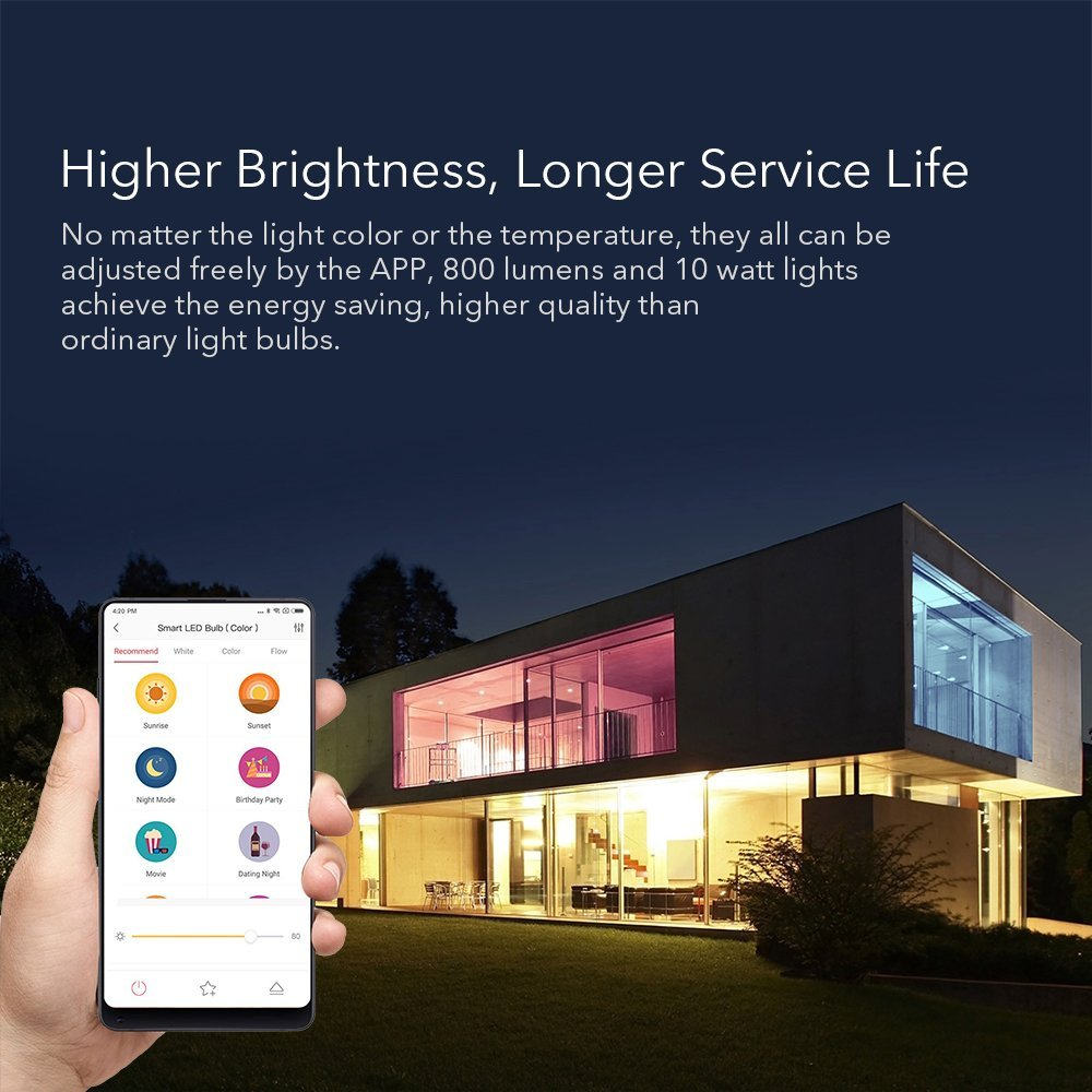 english Version Xiaomi Yeelight Smart Led Bulb Colorful English Version 800 Lumens 10w E27 Lemon Smart Lamp For Mi Home App Security & Protection Security Alarm