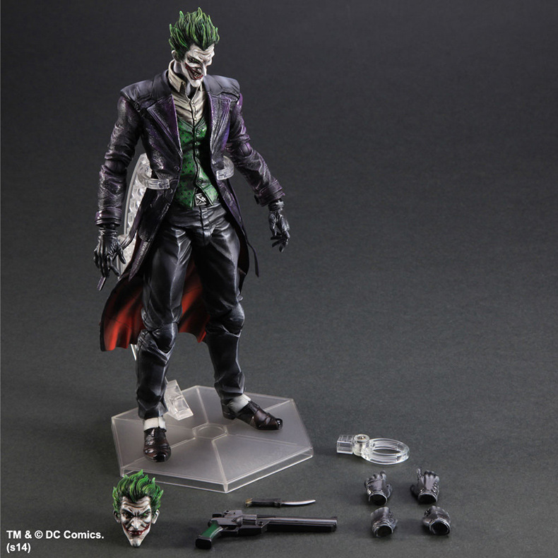 Batman Action Figure Play Arts Kai Arkham Joker Toys PVC 260mm Anime Movie Collectible Model Toy Bat Man Playarts Kai shfiguarts batman the joker injustice ver pvc action figure collectible model toy 15cm boxed