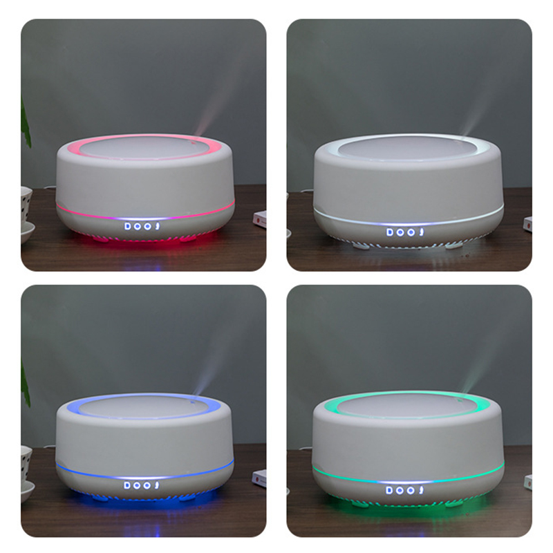 700ml Ultrasonic Air Aroma Humidifier with 7 Color Changing LED Lamp Electric Wood Grain Essential Oil Aroma Diffuser