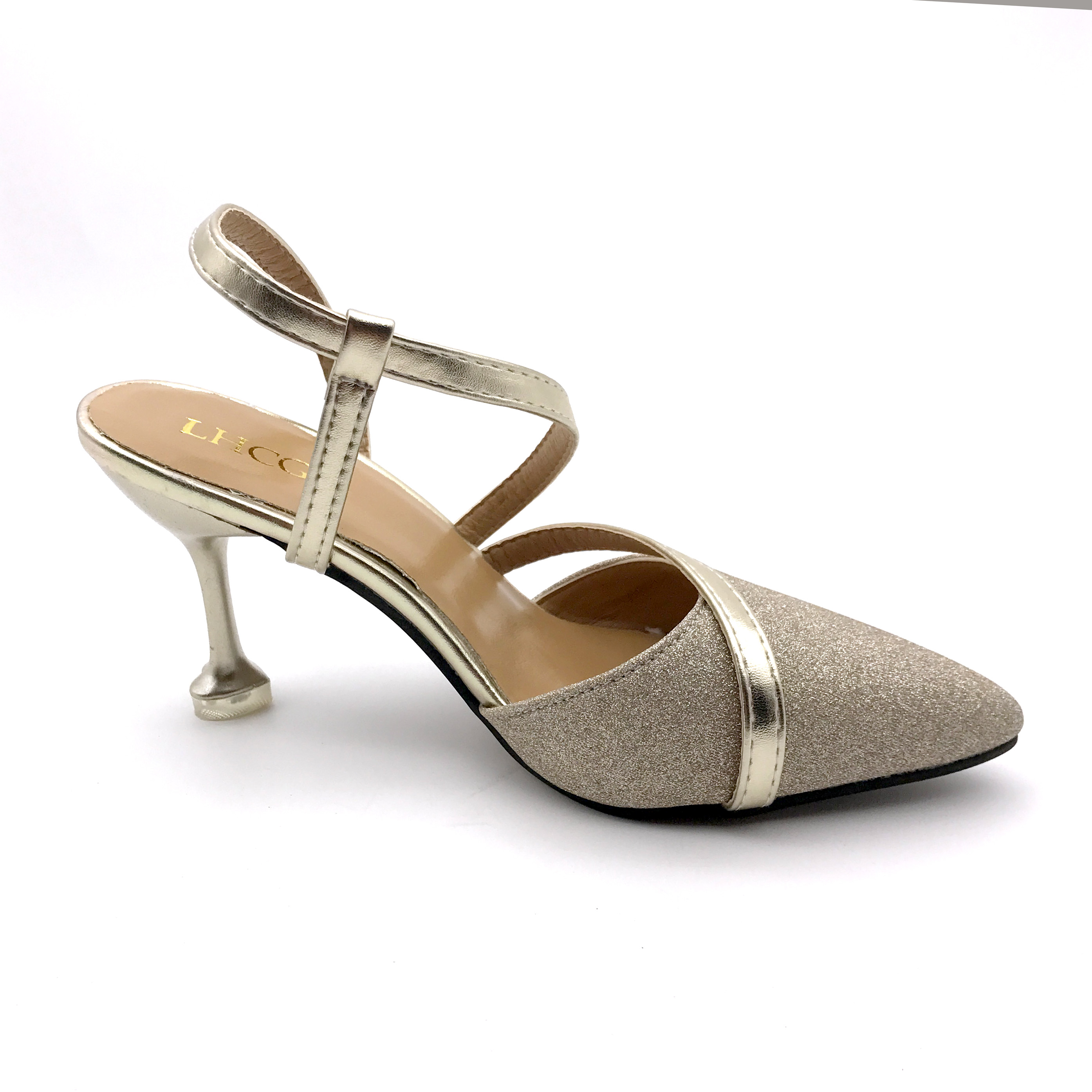 Women Wedding Shoes High Heels Pumps Pointed Toe Slingbacks Dress shoes Woman Summer Shoes Silver sandals Zapatos Mujer 3641 6