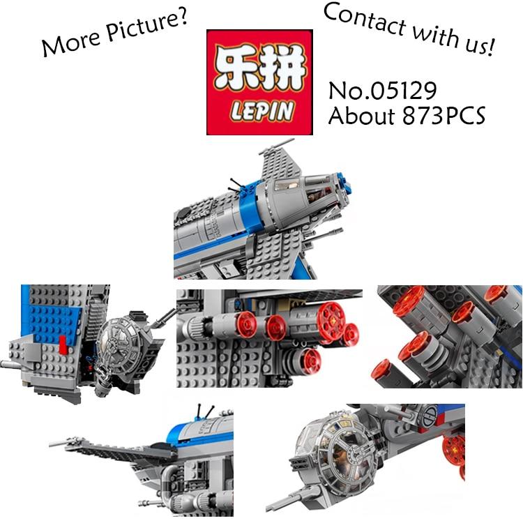 LEPIN Star Wars 05129 873PCS Resistance Bomber Building Blocks Bricks font b toys b font for