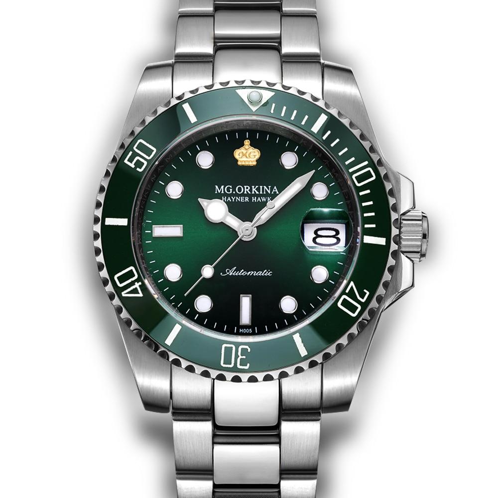 цена ORKINA Classic Male Clock Designer Watch Stainless Steel Montre Homme 3ATM Water Resistant Auto Mechanical Wrist Watch Men онлайн в 2017 году
