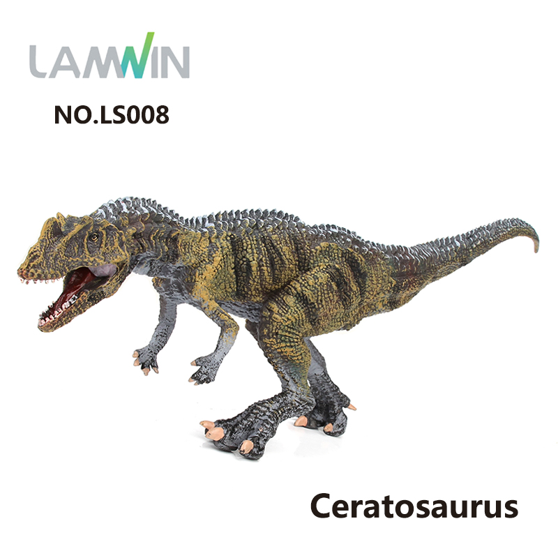 Lamwin New Jurassic World Park Collection Ceratosaurus Model Simulation Action Figure Dinosaur Toy lamwin 6pcs lot large dinosaur toy collection set jurassic world park hollow model figure free gift dinossauro egg