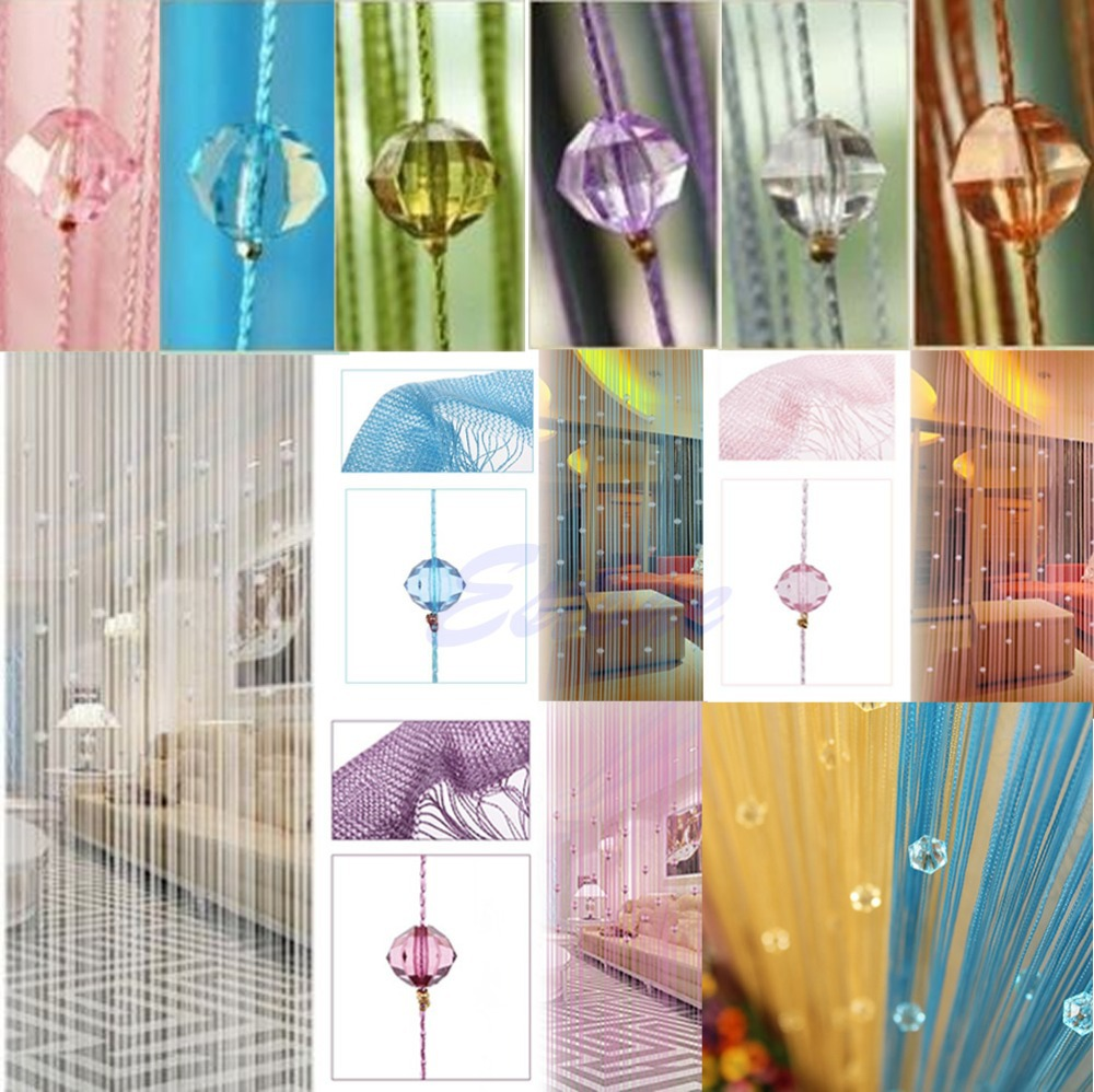 Beaded string curtains - Aliexpress Com Buy New Home Decor Chic Beaded Curtain Crystal Divider Decorative String Door Window Room Divider Blind Panel Jj2834 From Reliable Blinds
