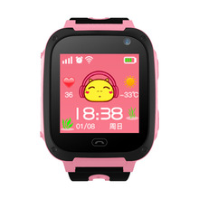 2018 new fashion DS29 children's multi-function smart watch color touch screen support SIM card real-time positioning watch