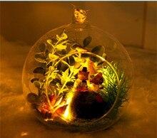 DIY Luminous Mole Ladybugs Plants Furniture Mini Glass Ball Model Kits Handmade Wooden Miniature Free assembly Doll house Toy