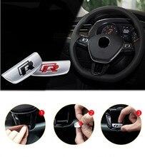 Car steering wheel metal stickers sticker badge Rline emblem for VW Volkswagen 2017 VW Volkswagen Jetta touran Golf 7 GTI MK7