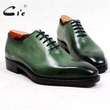 Cie/мужские туфли ручной работы из натуральной телячьей кожи с квадратным носком; зеленый цвет; дышащая кожаная подошва goodyear; ox495
