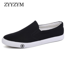 ZYYZYM Men Shoes 2019 Spring Summer Fashion Sneakers Vulcanize Light Ventilation Slacker Canvas Black