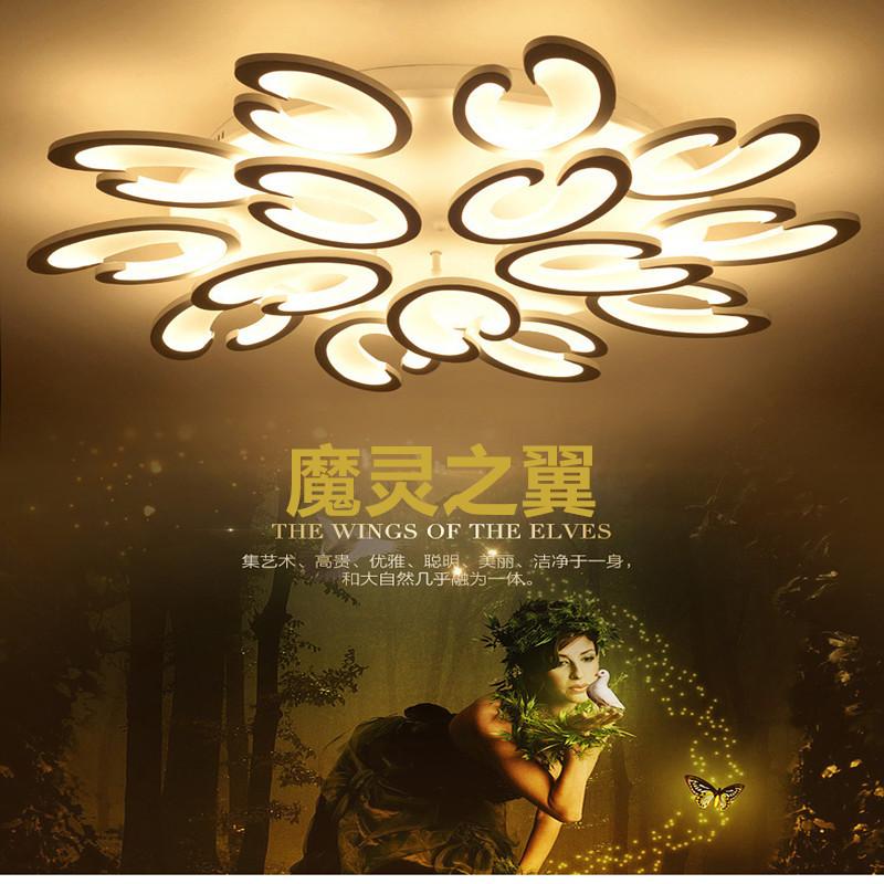 v v aluminio llev las luces de techo de acrlico lmpara plafoniera iluminaria plafond