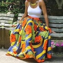 BOHISEN African Print Women Skirts Fashion Bazin Dashiki Dresses For Femme Clothes