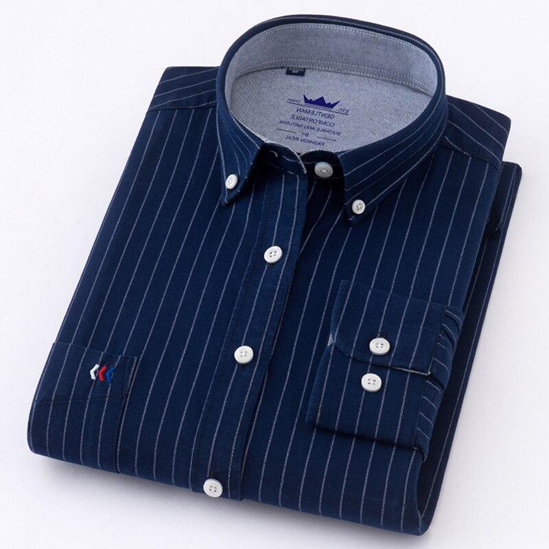 Novo chegou 100% algodão camisa de manga comprida camisas de xadrez dos homens/camisa listrada plus size 4xl oxford camisas de vestido dos homens social