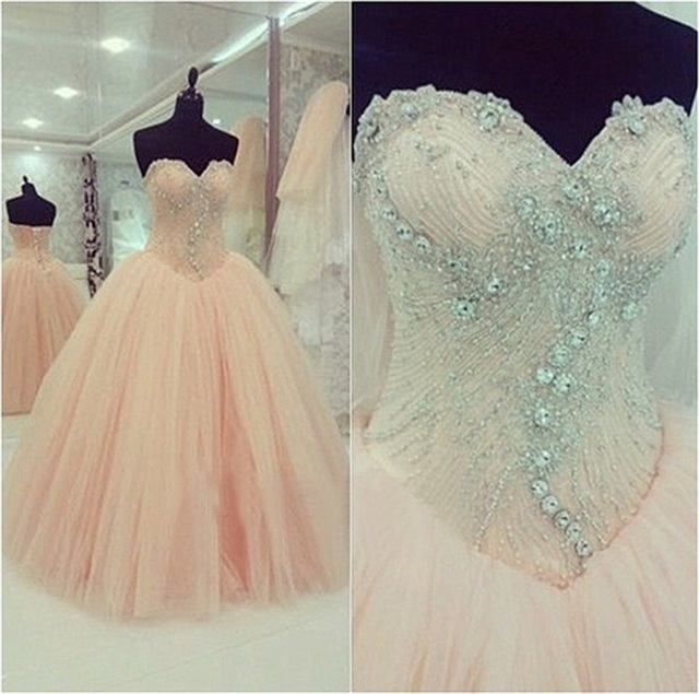 Gown For Quinceanera Dress 2015 Masquerade In Blush Pink 56real Us202 Beading Cheap Ball Bling Zbq2 Years Picture 15 Tulle Dresses Luxury jRq543LA