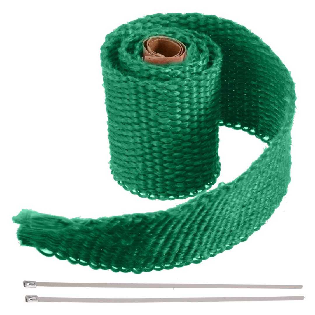 Image 5 - 50CM*5CM Motorcycles Exhaust Header Pipe Heat Wrap Manifold Shields Insulation Roll Tape Virgin Glass Fiber-in Exhaust & Exhaust Systems from Automobiles & Motorcycles