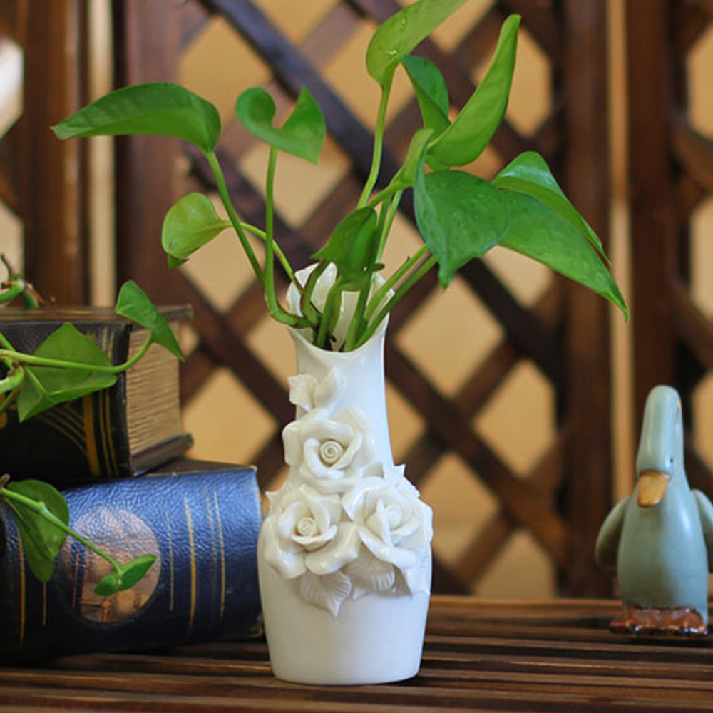 Hot sell handmade 3pcs decorative ceramic art vase engraved hot sell handmade 3pcs decorative ceramic art vase engraved porcelain flower vases with exquisite relief euro style home decor in vases from home garden reviewsmspy
