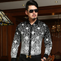 2016 ISMEN Mens visten Camisa de manga larga moda Casual de negocios para hombre camisas formales Masculina Camisa