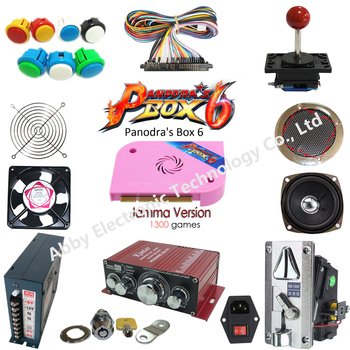 цена на 5 kinds joysticks arcade kits with 1300 in 1 Jamma Arcade Game cartridge /jamma Multi game board support CRT and LCD for arcade