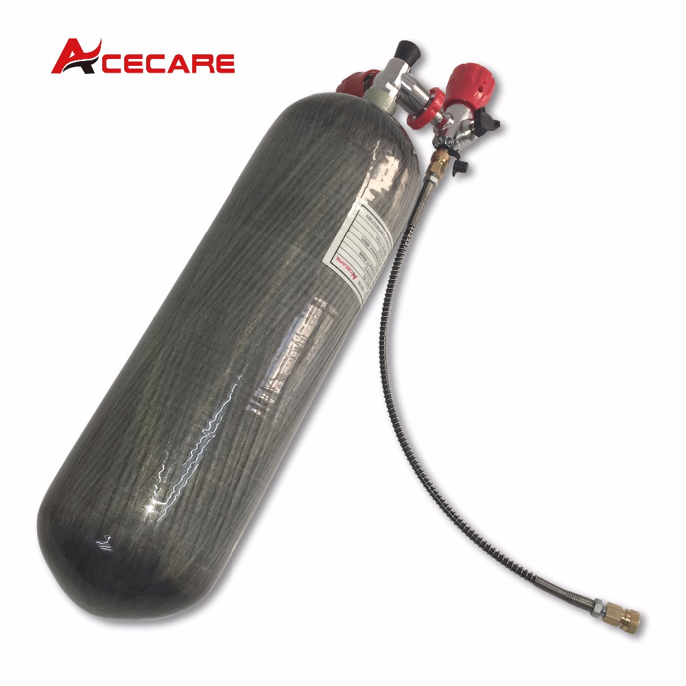 AC168101 Acecare 6.8L Rifle Pcp Accessories Paintball/hpa Tank Equipment Co2 Cylinder  CE 300BAR M18*1.5 Thread For SCUBA