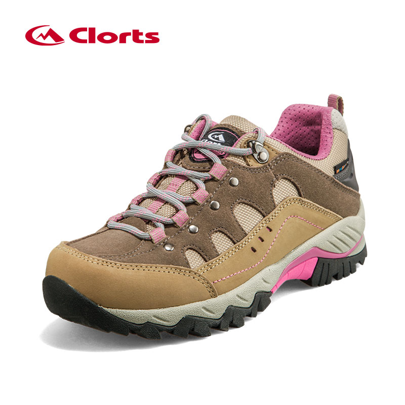 CLORTS Outdoor Sneakers For Women Hiking Camping Shoes Genuine Leather Professional Trekking Shoes Women Waterproof Sneakers цены онлайн
