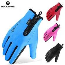 Snowboard Gloves ROCKBROS Warmer Bike Touch-Screen Cycling Fleece Skiing
