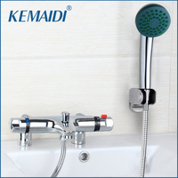 Bathroom Deck Mounted Two Handle Thermostatic Shower Mixer Thermostatic Faucet Shower Taps Chrome Finish