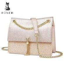 FOXER Brand Small Flap Bag Women Temperament Crossbody Bags & Shoulder Bag Female Solid High Quality Messenger Bag for Lady стоимость