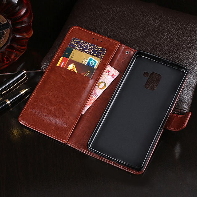 100% authentic 04478 f40e1 US $3.96 20% OFF|Luxury Flip Case For Samsung Galaxy A8 2018 A530 PU  Leather Case Silicone Wallet Cover For Samsung A8 Plus 2018 A730 Phone  Coque-in ...