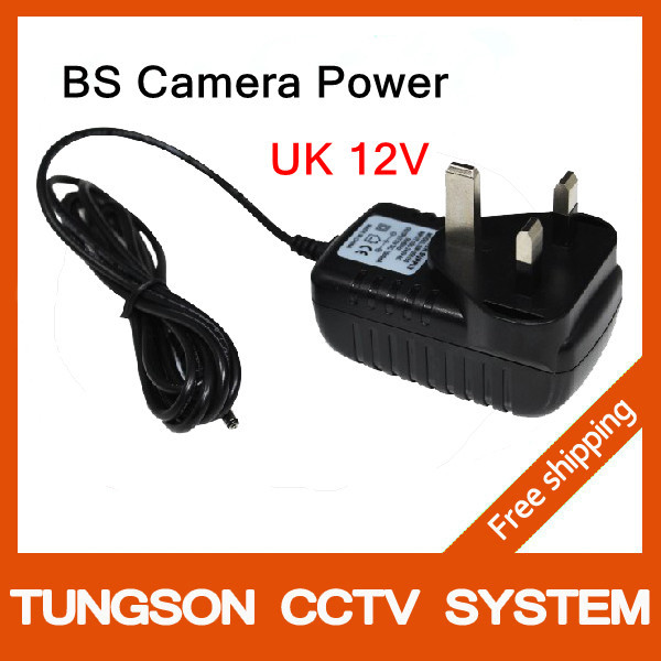CCTV System Power Adapter + AC 100~240V 50/60Hz Input to DC 12V 1000mA Output + BS (UK) Standard Free Shipping power system power system l carnitine fire 54000 1000