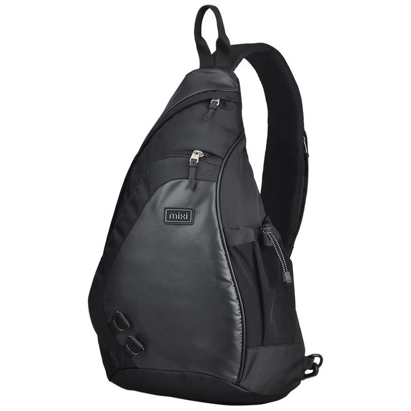 Mixi Fashion Men Backpack One Shoulder Chest Bag Male Messenger Boys University School Bag Causal Work Travel 17 19 Inch M5207
