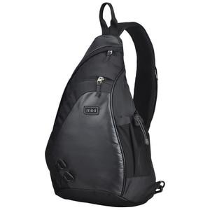Image 1 - Mixi Fashion Men Backpack One Shoulder Chest Bag Male Messenger Boys University School Bag Causal Work Travel 17 19 inch M5207