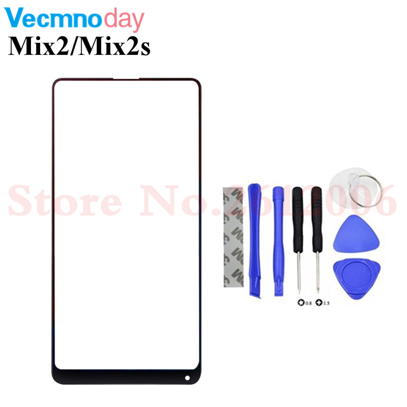 Genuine For Xiaomi Mi Mix 2 2S/Mix2 Mix2s Front Glass Touch Screen LCD Outer Panel Lens Cover Repair Part