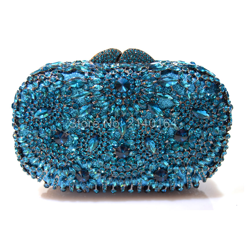 Crystal Evening Party Bag Clutch Fashion Evening Bag Chain Handbag Wedding Purse Lake blue Mini Women Handbag (88304-E) clever книга узорова о букварь учимся читать с 2 3 лет 2