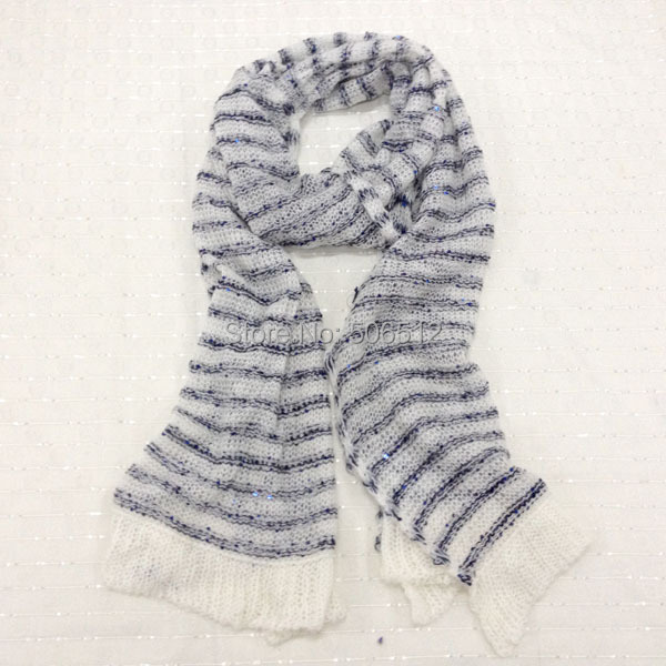 Wholesale retail autumn winter solid color scarf winter knitted collar wool yarn Candy color muffler scarf lovers scarf