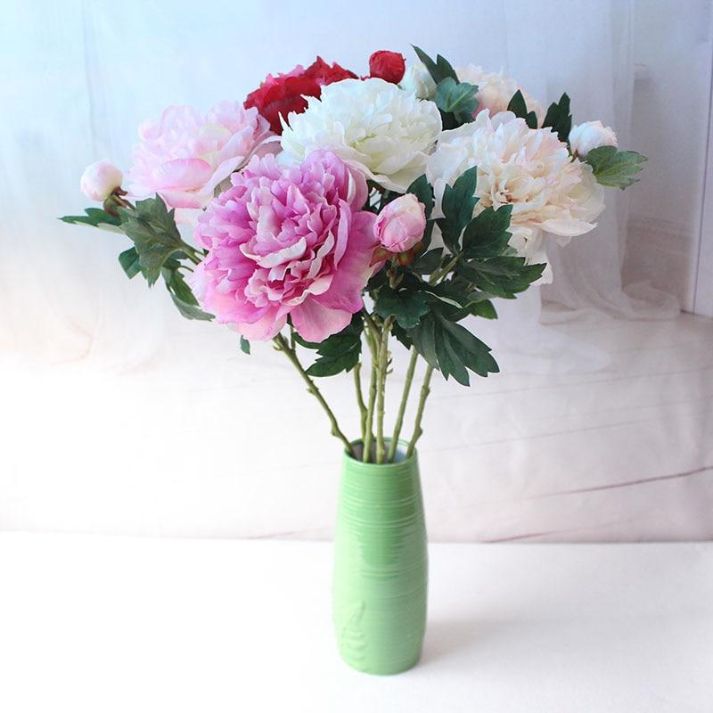 Silk peonies roses artificial flowers (17)